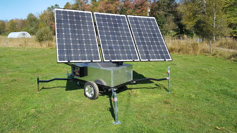 Sun Tracking Portable Solar Power System